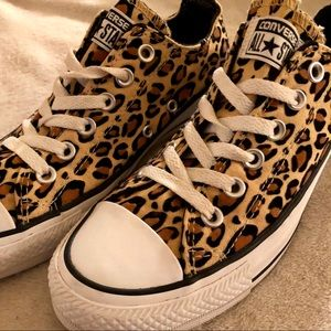 Converse Sneakers Leopard Cheetah Print